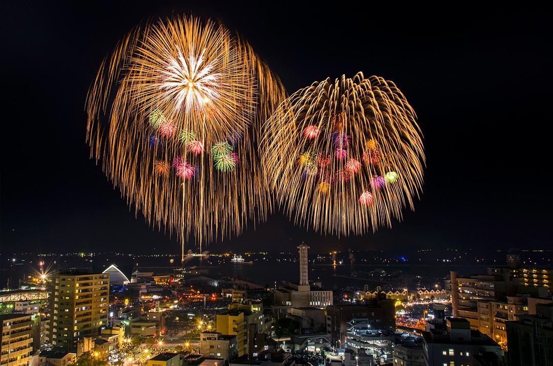 【鹿児島市制130周年記念】第19回かごしま錦江湾サマーナイト大花火大会01